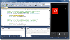 Visual Studio and Tombstoning